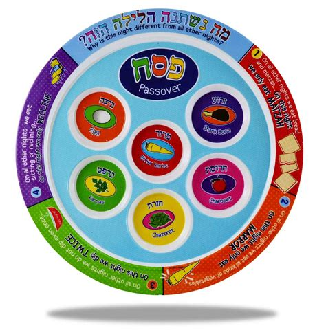 Children's Passover Gifts Colorful Seder Plate Melamine