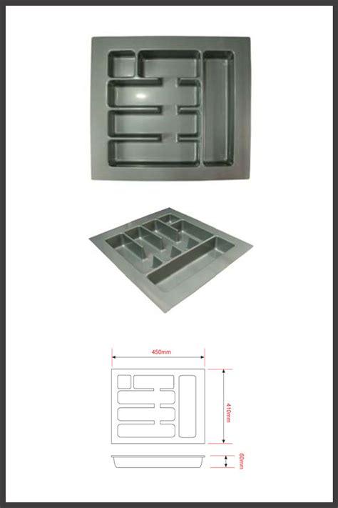 Lemari Xl Plastik rak sendok plastik pemasangan dalam laci lintang fittings