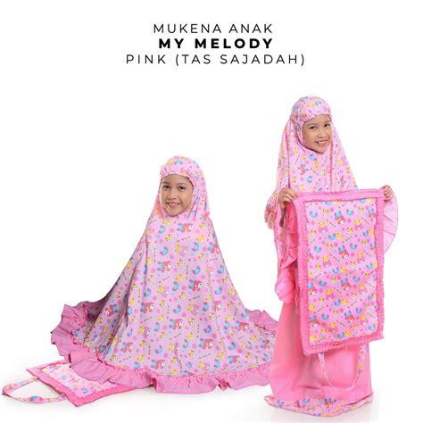 Mukena My Melody Sweet Pink jual mukena anak my melody pink tas sajadah motif cantik