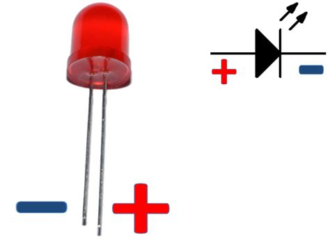led diode polarity diode polarity symbol clipart best