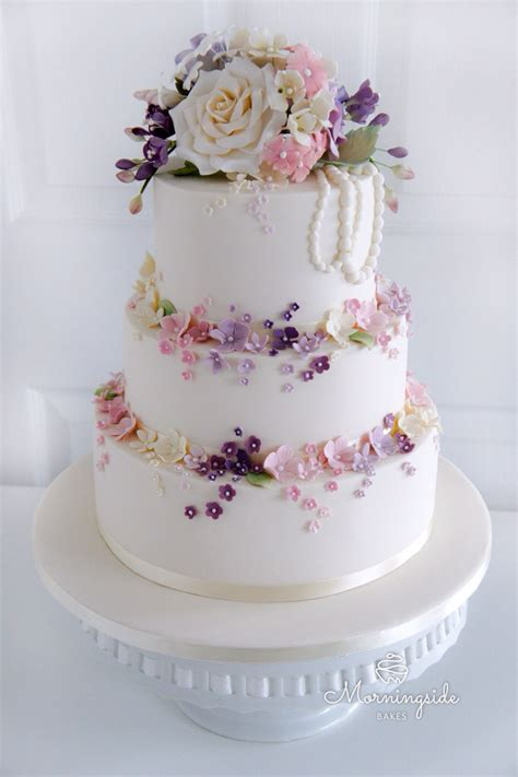 3 tier wedding cake wedding cakes and sugar flowers in lanarkshire