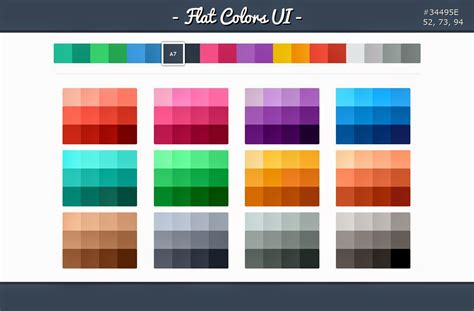 design color schemes free flat ui kits to boost your designs in no time part 1 designhill
