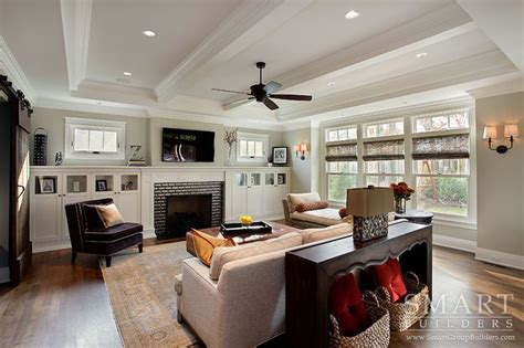 craftsman home craftsman family room columbus by contemporary craftsman style custom home family room