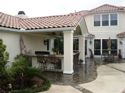 Stucco Patio Cover Designs by Custom Designed And Built Gable Tile Roof Addition With