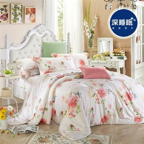 spring comforter sets 100 silk spring summer red flower garden floral 4pcs cool