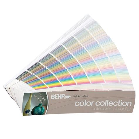 Deck Stain Color Ideas by Behr 2 In X 9 In 1434 Color Fan Deck 50004175 The Home