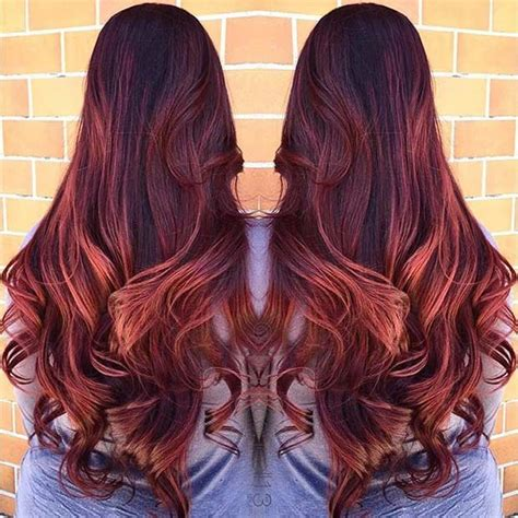red head with highlights 21 amazing dark red hair color ideas page 2 of 2 stayglam