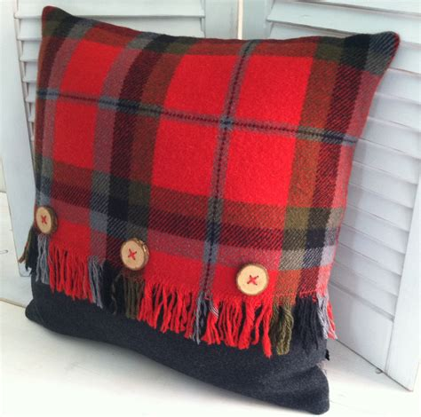 Where Is Pillow Made by One Of Our All Time Favorites Vintage Wool Plaid Blanket Made Into A Pillow Great Use Of
