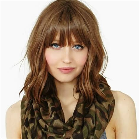 in front medium haircuts 50 medium haircuts with bangs to bring movement and