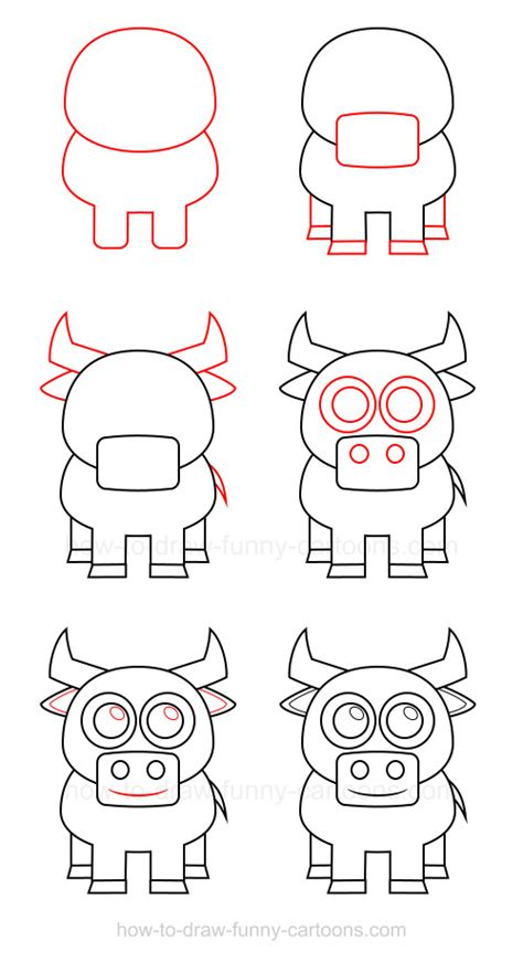 how to draw a how to draw a bull