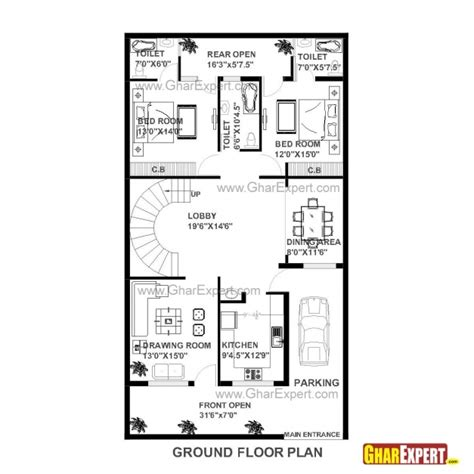 home design 15 x 60 delightful house plans for 40 x 60 plot homes zone 15 60