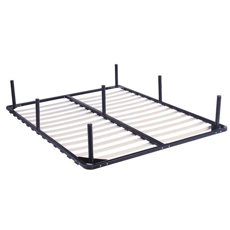 wood slats metal bed frame king size rust resistant