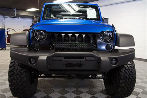 jeep wrangler custom bumper 2016 jeep wrangler sport unlimited hydro blue