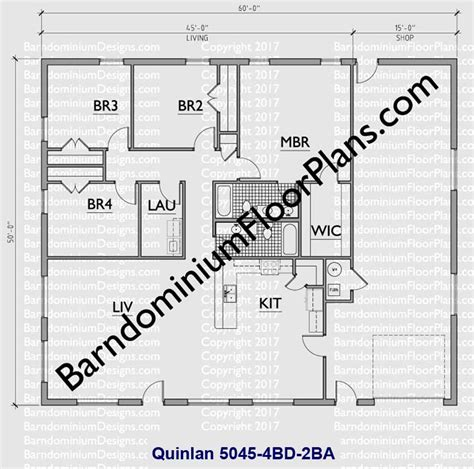 Dual Master Bedroom Floor Plans by Custom Barndominium Floor Plans And Stock Pole Barn Homes