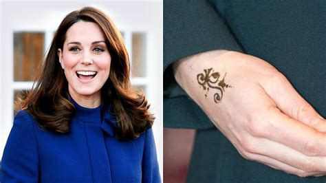 kate middleton tattoo kate middleton gets henna on recent royal visit
