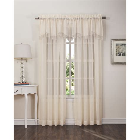 sears window curtains colormate parker 52in x 18in valance home home decor