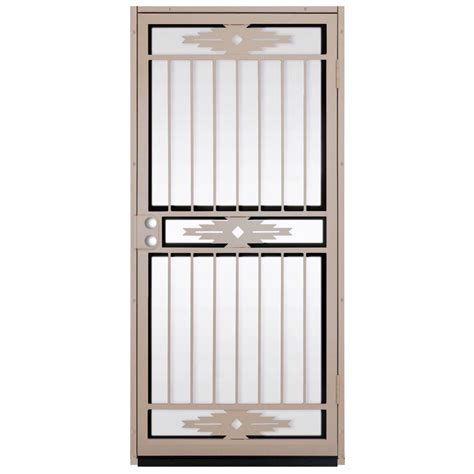 Glass Security Door Unique Home Designs 36 In X 80 In Pima Surface Mount Outswing Steel Security Door With