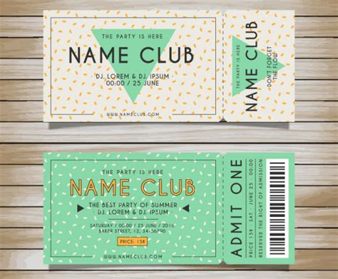 template ticket design doc 550516 33 premium free ticket templates psd mockups