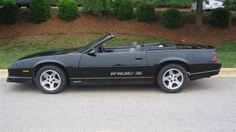 1988 camaro iroc z specs 1988 chevrolet camaro iroc z convertible t199