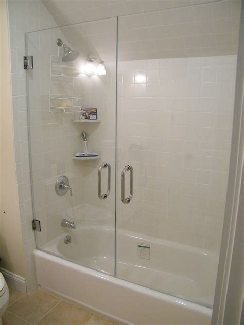 replacing a bathtub with a shower tub doors 51 quot x 58 quot hinged frameless bath tub door quot quot sc quot 1 quot st quot quot wayfair