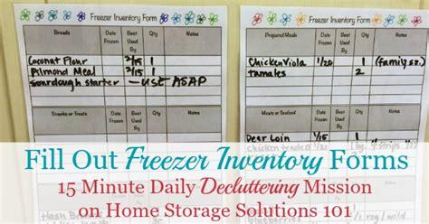 printable freezer inventory form     home
