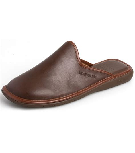 mens leather mule slippers norwood leather mule by nordika slippers from fife country
