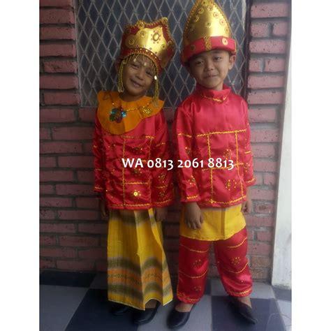 Baju Adat Anak Tk palembang couples paud tk baju adat karnaval kostum tari