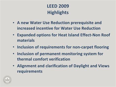 Leed Thermal Comfort by Preparing For Leed 2009