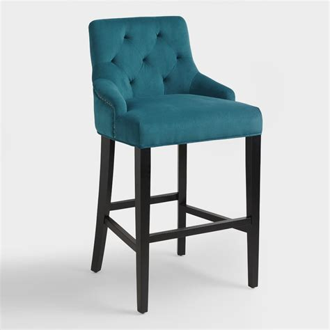 Teal Colored Bar Stools pacific blue lydia barstool world market