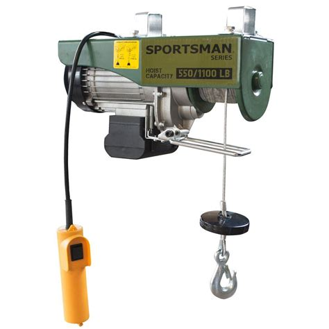 sportsman 1 2 ton electric hoist 801590 the home depot