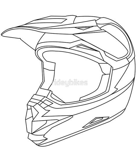 how to draw a motocross bike dirt bike helmet drawing pixshark com images