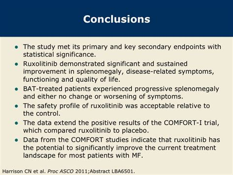 comfort ii trial a report on the results of the comfort i and comfort ii