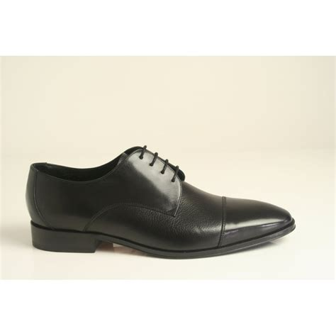 loake loake quot doyle quot lace up black leather shoe leather