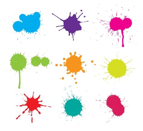 paint stains collection vector free