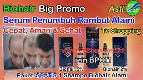 Paket Promo 2 Bio Hair Solution Gratis Sho Tonic Penumbuh Rambut 1 bio hair biohair solution bio hairs ez shop tv shopping