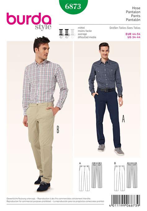 sewing pattern jeans mens burda 6873 men s pants