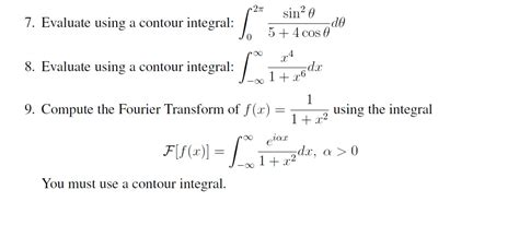 sin city 2 integral evaluate using a contour integral integrate limit chegg com
