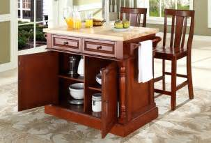 buy butcher block top kitchen island with back stools