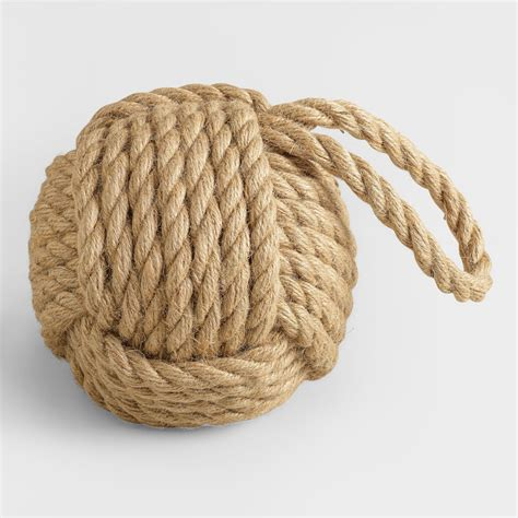 Hemp Design - large hemp rope doorstop world market