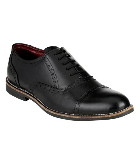 zebra black leather brogue formal shoes price in india