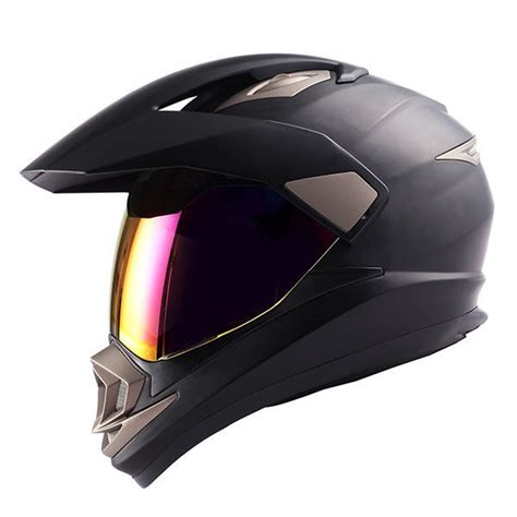 black motocross helmet dual sport motorcycle motocross mx atv dirt bike