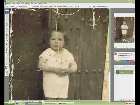 fotos antiguas para restaurar como restaurar fotos antiguas en photoshop youtube