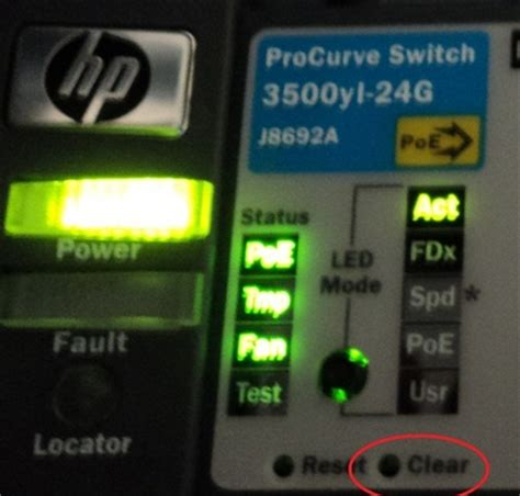 reset hp 2520 switch to factory defaults clear the password on hp procurve