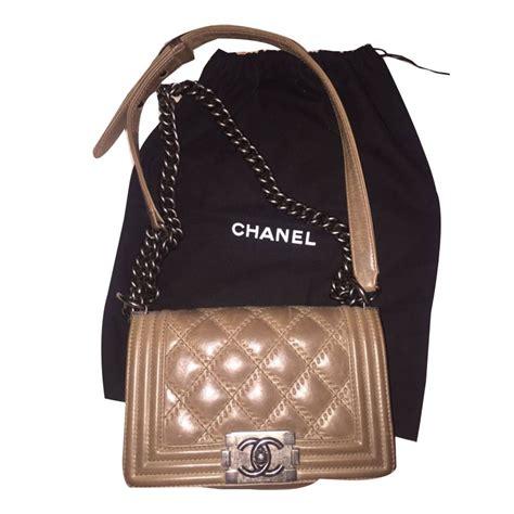 Chanel Sahrini Brown 1 chanel boy handbags leather light brown ref 46832 joli closet