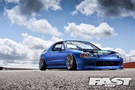 Front Door Blue by Stanced Honda Crx Del Sol Fast Car