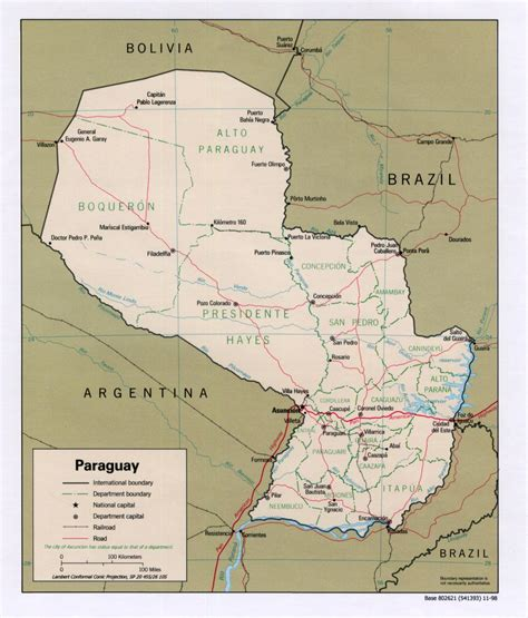 paraguay maps perry castaneda map collection ut