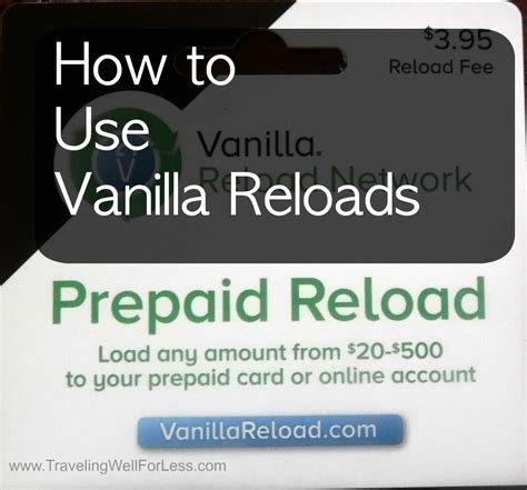 How To Use A Vanilla Gift Card Online - how to use vanilla reloads