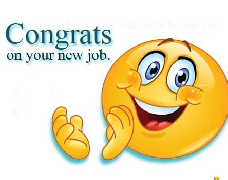 congratulations on new job, congratulations on your new