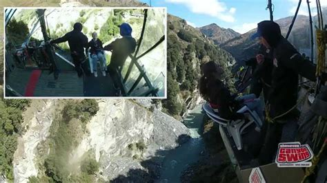 canyon swing death shotover canyon swing the chair of death youtube