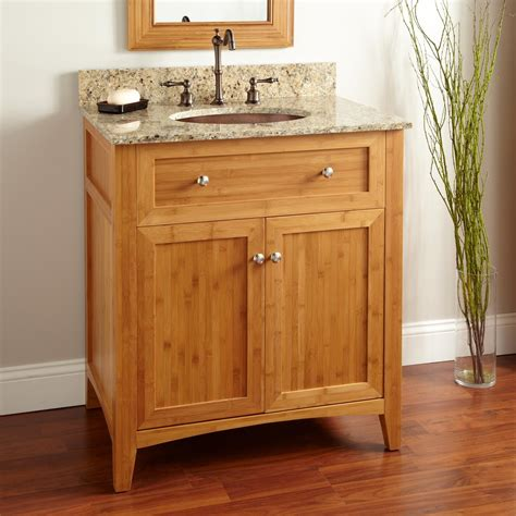 Bamboo Vanity Bathroom 30 Quot Halbur Bamboo Vanity For Undermount Sink Bathroom Vanities Bathroom
